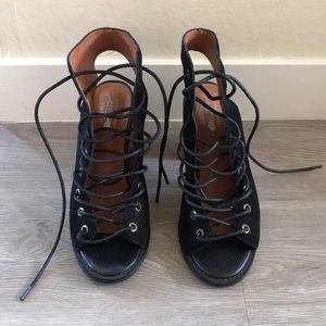Jeffrey Campbell/Free People Lace Up Cors Bootie